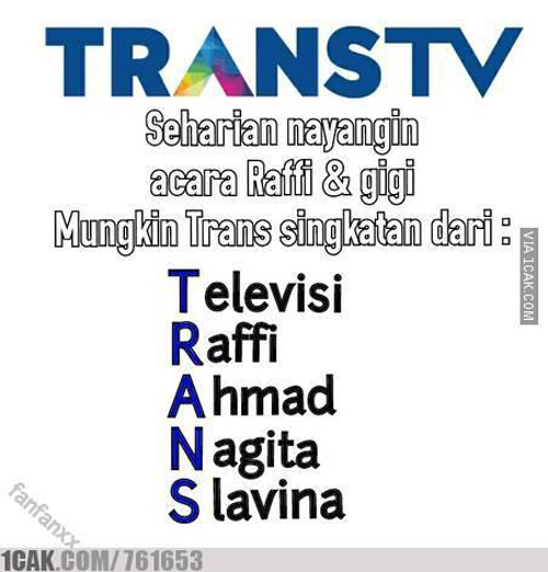 TRANS TV - Televisi Raffi Ahmad Nagita Slavina