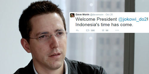 CEO Path, Dave Morin Ucapkan Selamat Pada Presiden Jokowi