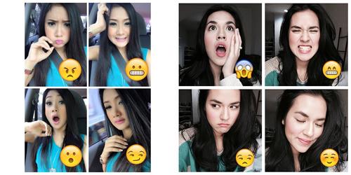 Foto Cantik Cita Citata Tirukan Emoticon, Saingi Raisa?