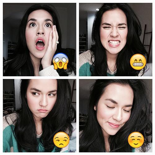 Raisa tirukan ekspresi emoticon