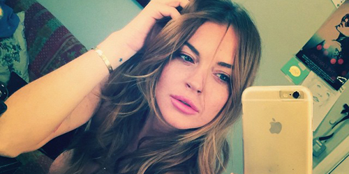 Foto Topless Seksi Lindsay Lohan di London