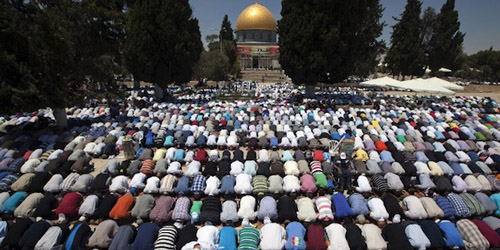 7 Tahun Diblokade, 500 Warga Gaza Akhirnya Salat Ied di Masjid Al-Aqsha