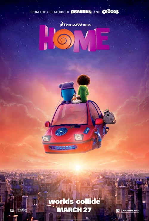 Poster film animasi Home