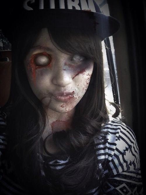 Nabilah JKT48 foto selfie menjadi zombie