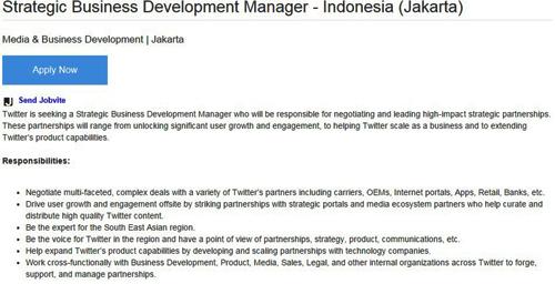 lowongan kerja twitter indonesia