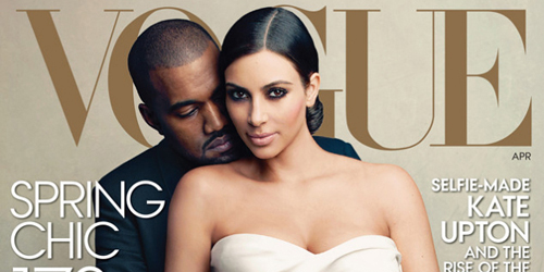 Alasan Kim Kardashian-Kanye West Dipilih Jadi Cover Vogue April 2014