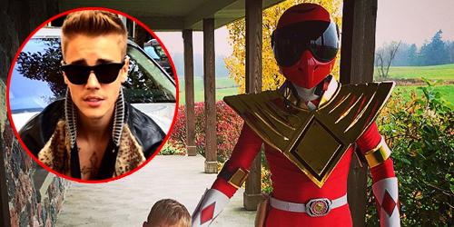Foto Justin Bieber Jadi Power Ranger Merah Saat Halloween