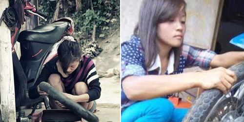 Nanik, Tukang Tambal Ban Cantik di Malang