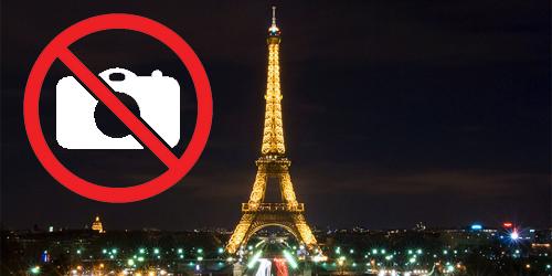 Mengambil Gambar Menara Eiffel Di Malam Hari Adalah Ilegal