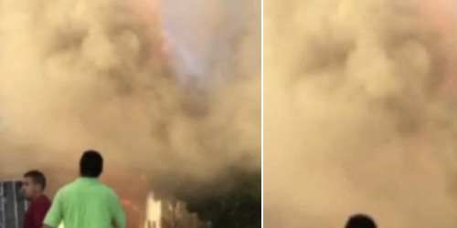 Video Penampakan Wajah 'Yesus' di Asap Kebakaran California