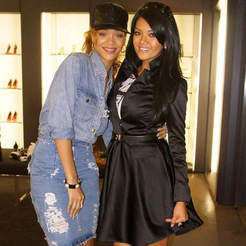 Farah Quinn foto bareng Rihanna