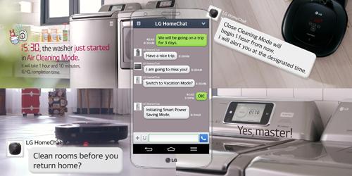LG HomeChat, Aplikasi Chatting dengan Kulkas dan Microwave