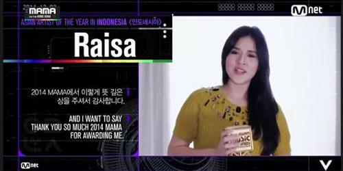 Raisa Pemenang Asian Artist of the Year-Indonesia MAMA 2014