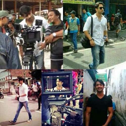 Shaheer Sheikh Syuting di Jalanan Yogyakarta