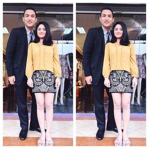 Dewi Perssik dan Giovanni L. Tobing di TVM Janda Jatuh Cinta