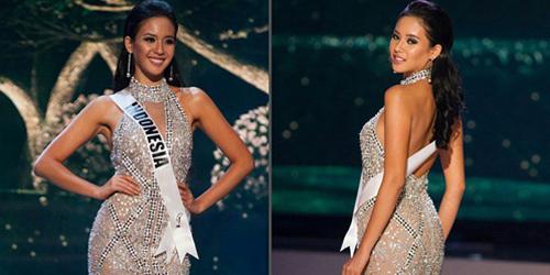 Foto Cantik Elvira Devinamira di Panggung Miss Universe 2015