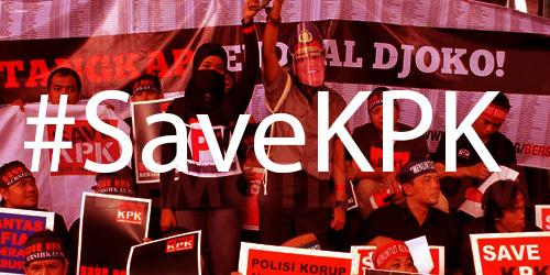 Konflik KPK dan Polri Makin Panas,  #SaveKPK Jadi Trending Topic