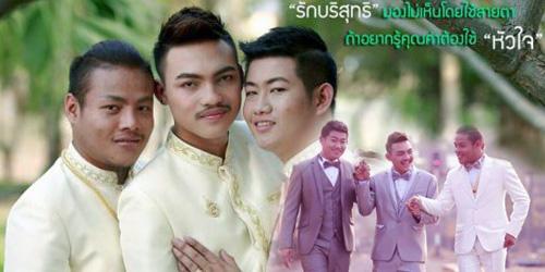 3 Pria Gay Thailand Langsungkan Pernikahan 'Threesome'