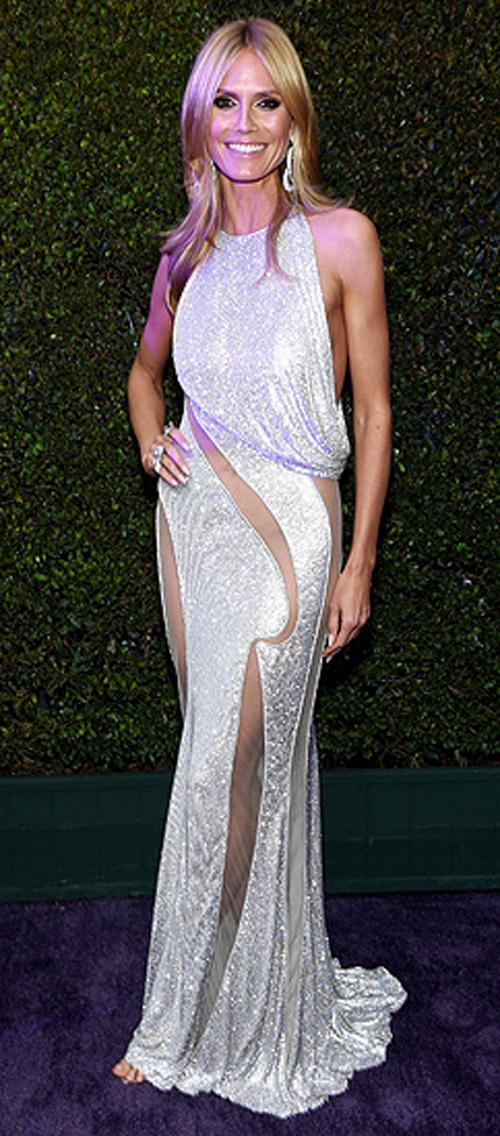 Heidi Klum Seksi Pakai Gaun Transparan di Pesta Oscar 2015