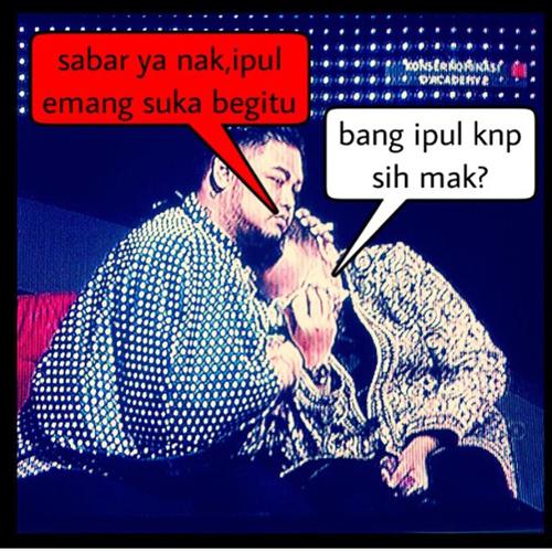 Meme Ivan Gunawan peluk Nassar saat dikritik Saipul Jamil