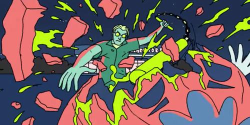 Animasi Keren di Video Klip Royal Blood 'Out Of The Black'