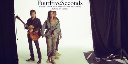 Behind The Scene Video Klip Terbaru Rihanna 'FourFiveSeconds'