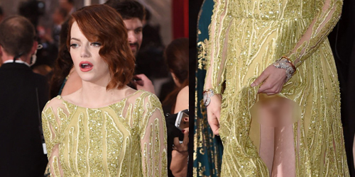 Celana Dalam Emma Stone Ngintip di Oscar 2015