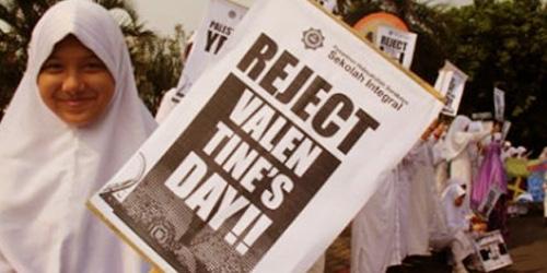 Aksi penolakan perayaan Hari Valentine @detik.com