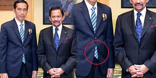 Temui Sultan Brunei, Jokowi Pakai Jas 'Kampungan'