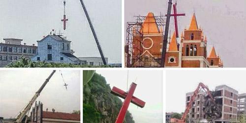 Diskriminasi Kristen Tiongkok, Salib Dirobohkan Pendeta Ditangkap