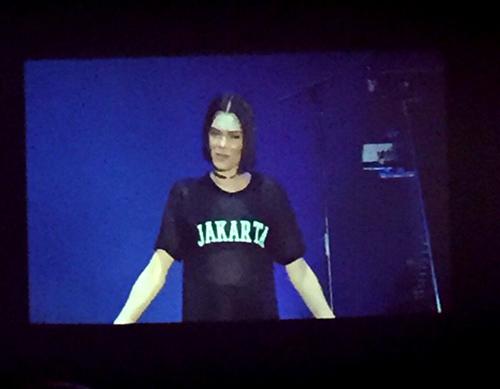 Jessie J kaus t-shirt Jakarta di Java Jazz 2015