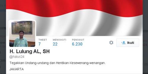 Haji Lulung Bikin Twitter @Halus24, Doakan Ahok Sembuh