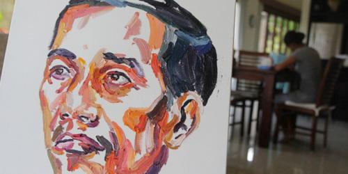 Jelang Eksekusi, Duo Bali Nine Bikin Lukisan Wajah Jokowi