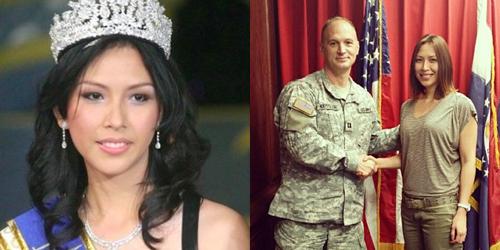 Miss Indonesia 2006 Kristania Besouw Jadi Tentara AS