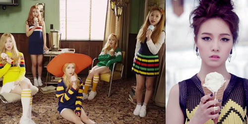 MV Minah 'I Am a Woman Too' Mirip Red Velvet 'Ice Cream Cake'