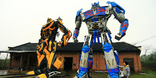 Petani China Ciptakan Robot Transformers
