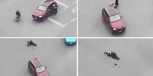Video Polantas Ditabrak BMW Sampai Tewas