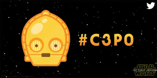 3 Emoji Star Wars Twitter #C3P0 #STORMTROOPER #BB8