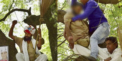 Petani India Bunuh Diri Saat Unjuk Rasa Disiarkan Televisi