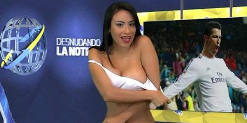 Presenter Seksi Bugil Sambil Baca Berita Ronaldo