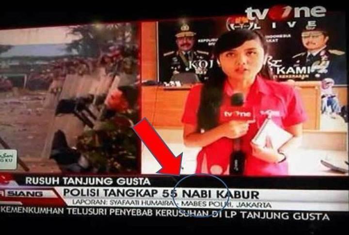 FOTO: Kumpulan Typo (Salah Ketik) di TV & Koran, Lucu Tapi