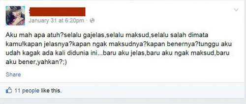 Miris, Status Facebook Bocah SD Zaman Sekarang