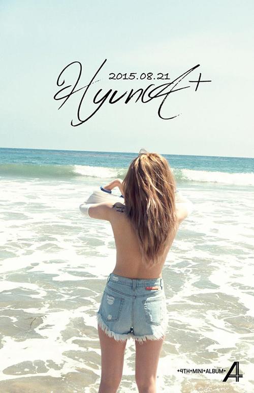 HyunA 4Minute Topless di Foto Teaser Album A+