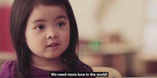 Arti cinta menurut anak kecil @youtube.com