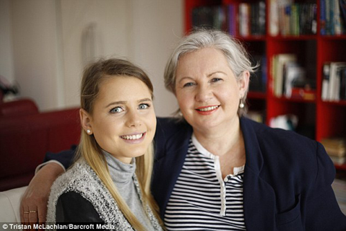 Elle Lietzow dan sang ibu @dailymail.co.uk