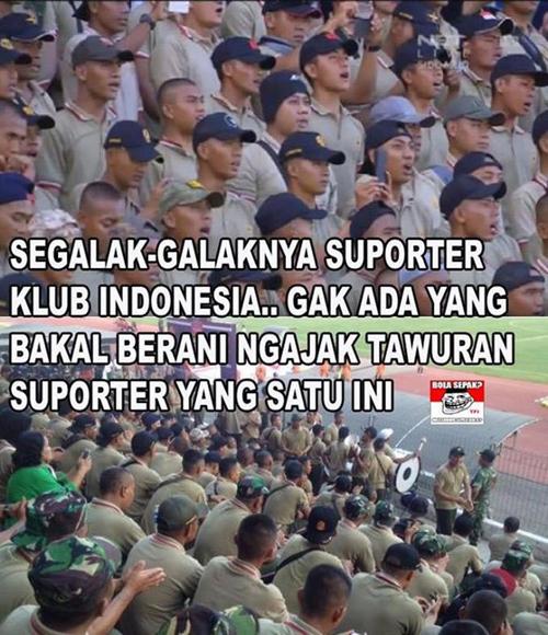 Tak ada suporter klub Indonesia yang berani ajak suporter PS TNI