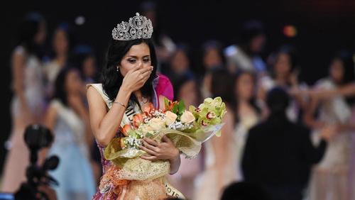 Foto: Maria Harfanti Juara 3 Miss World 2015 Cantik Luar Dalam