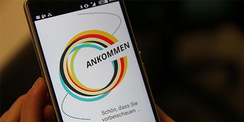 Ankommen, Aplikasi untuk Bantu Pengungsi Buatan Jerman
