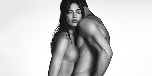 Foto Irina Shayk Bugil Bareng Model Ganteng di Iklan Givenchy Jeans