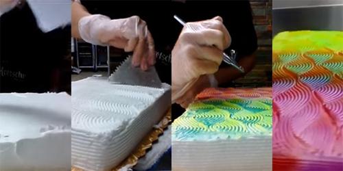 Video Cara Buat Kue Tart Berubah Warna Kayak Bunglon